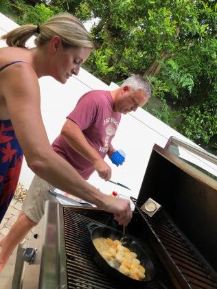 JRoFo and Big D grilling